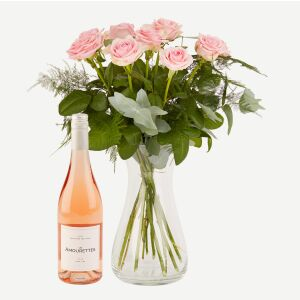 Pink roses with Les Amourettes Rosé