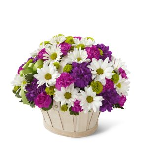Blooming Bounty Bouquet - Basket included